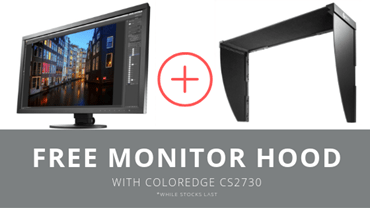Buy a ColorEdge CS2730 and get a FREE EIZO hood during July 2019.